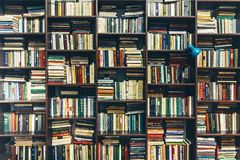 Bookstore. Public Old Library. Creativity Concept royalty free stock photo