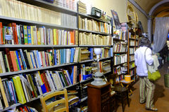 Bookstore in Rome. Inside view of a bookstore in the center of Rome Stock Image