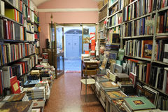 Bookstore in Rome Stock Photos
