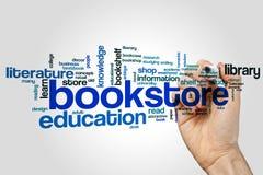 Bookstore słowa chmury pojęcie na popielatym tle Obraz Royalty Free