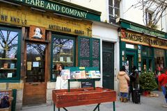 Bookstore of Shakespeare and Company in Paris. Stock Photography