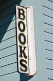 Bookstore Sign. Weathered Books sign outside of a bookstore royalty free stock photo