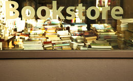 Bookstore  Sign. Bookstore sing on a Bookstore Window Stock Photography