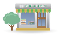 Bookstore. Small shop. For you design Stock Image