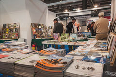 Bookstore at Solarexpo 2014 in Milan, Italy Royalty Free Stock Images