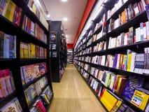 Bookstore. Various books at bookstore shelves stock photos