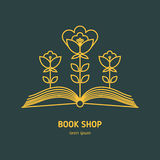 Bookstore vector icon. Vector icon of outline education logo. Trendy emblem and design element for courses, classes, library, bookstore and schools Royalty Free Stock Photos