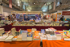 Bookstore at Yoga Festival 2014 in Milan, Italy Stock Photo