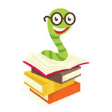 Bookworm. Visible from the colored books bookworm Stock Photography