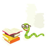 Bookworm. Books go right to the bookworm Royalty Free Stock Photography