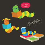 Bookworm Royalty Free Stock Images