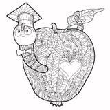 Bookworm doodle. Stock Photo