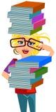 Bookworm girl Stock Photos