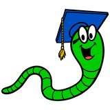 Bookworm. A vector cartoon illustration of a Bookworm mascot vector illustration