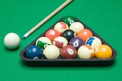 Bool Billiard-Ausrüstung Stockfotografie