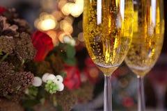 Boom 1 van Champagne en van Kerstmis royalty-vrije stock afbeeldingen