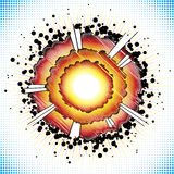 Boom. Vector illustration of explosion bursting Royalty Free Stock Photography