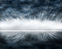Boom. Abstract background illustration of an expanding design Stock Image