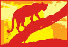 Boom 2 van de luipaard Royalty-vrije Illustratie