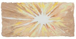 Boom abstracte kunst heeft de de achtergrond van Bom van de handambacht van de vormklei cli Stock Afbeeldingen