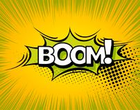 Boom. Background with Boom comic book explosion vector design pattern Royalty Free Stock Photo
