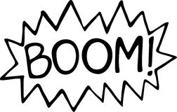 Boom Blast Comic Exclamation Stock Photo