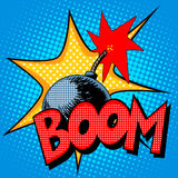 Boom bomb blast comic style Royalty Free Stock Photo