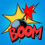 Boom bomb blast comic style Royalty Free Stock Photo