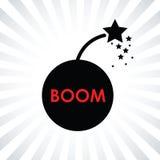 Boom bomb icon. A black boom bomb icon Stock Photo