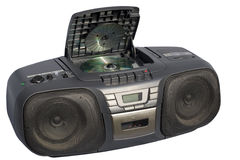 Boom Box Black colored Royalty Free Stock Photography