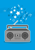 Boom box cartoon  Royalty Free Stock Images