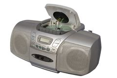 Boom Box Silver colored Royalty Free Stock Photo