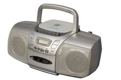 Boom Box Silver colored Royalty Free Stock Image