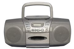 Boom Box Silver colored Stock Photography