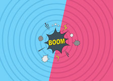 Boom Comic Backdrop Royalty Free Stock Images