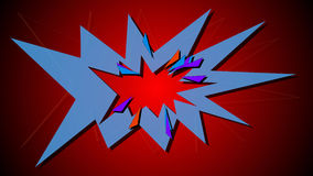 Boom. Comic book explosion. 3d illustration of Boom. Comic book explosion Royalty Free Stock Photo