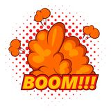 Boom, comic book explosion icon, pop art style Royalty Free Stock Photo
