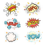 Boom. Comic book explosion set Royalty Free Stock Photo