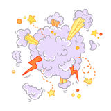 Boom comic book explosion, vector illustration. Stock Photography