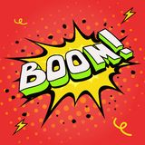 Boom. Comic book explosion. Stock Images