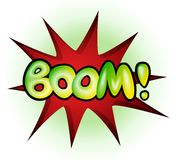 Boom - comic book explosion, vector illustration Royalty Free Stock Image