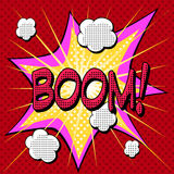 Boom comic book style explosion Stock Images
