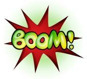 Boom - Comic-Buch-Explosion, Vektorillustration Lizenzfreies Stockbild