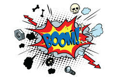 Boom comic pop art bubble Stock Photography