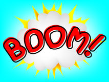 Boom! Comic Speech Royalty Free Stock Images
