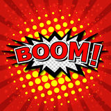 Boom! - Comic Speech Bubble, Cartoon Stock Image
