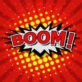 Boom! - Comic Speech Bubble, Cartoon Stock Image