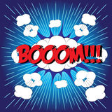 BOOM! comic word Stock Image
