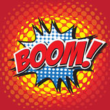 BOOM! comic word Stock Images