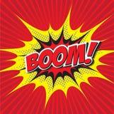 BOOM! comic word Royalty Free Stock Image